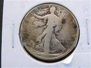 1921-D Walking Liberty Half Dollar KEY DATE