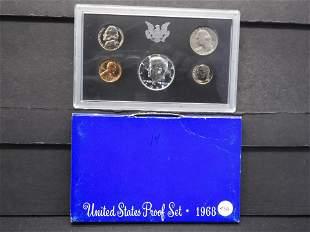1968-S US Proof Set w/40% Silver Kennedy Half Dollar