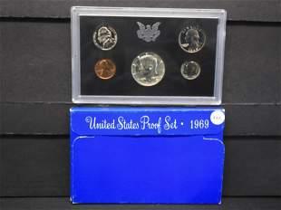 1969-S US Proof Set w/40% Silver Kennedy Half Dollar