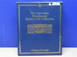The US Presidential Dollar Coin Collection w/32 One