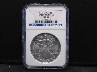 2009 NGC MS69 Early Releases American 1 oz. Fine Silver