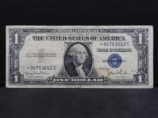 Series 1935-D U.S. $1.00 Silver Certificate STAR Note