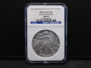 2006 NGC MS69 Early Releases American Silver Eagle 1