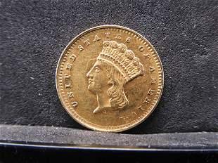1861 Type 3 $1.00 Gold Piece Civil War Date High Grade
