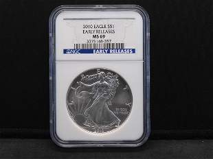 2010 NGC MS69 Early Releases American Silver Eagle 1