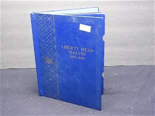 Whitman Album #9420 Empty - Liberty Head Halves