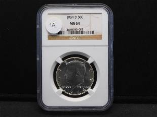 1964-D Kennedy Half. Slabbed by NGC (Top Tier Grader)