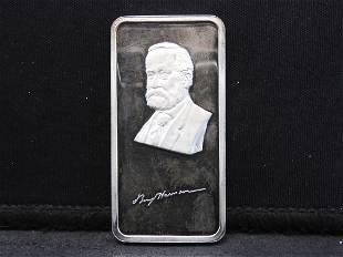 Benjamin Harrison One Troy Oz. 999 Fine Silver Hamilton