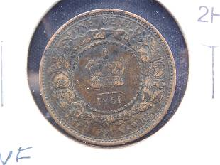 1861 - 1 Cent From New Brunswick