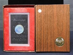 1972-S Silver Eisenhower Dollar in original box and GSA
