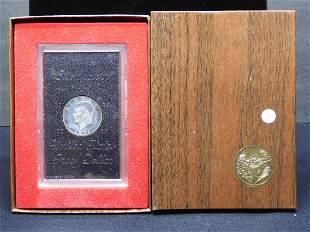 1971-S Silver Eisenhower Dollar in original box and GSA