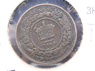 1864 - 1 Cent From New Brunswick