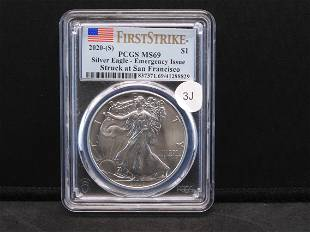 2020-S PCGS MS69 Type 1 / First Strike Emergency Issue