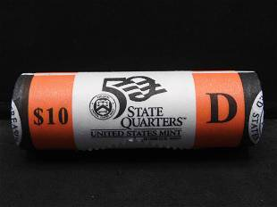 Roll Of 40 Brilliant Uncirculated 2001-D New York State