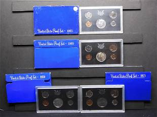 1968-S, 1969-S, 1970-S, 1971-S United States Proof Sets