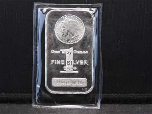 One Troy Oz. 999 Fine Silver Bar