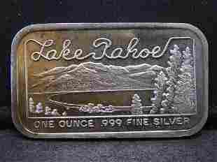 Lake Tahoe One Troy Oz. 999 Fine Silver Bar