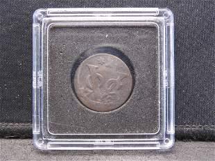 1780 New York Penny VOC Dutch Coin East India
