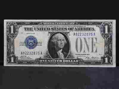 """1928 $1 Silver Certificate. Called a """"Funny Back"""" or"""
