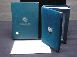 1990-S Six-coin Prestige Proof Set. Contains 90% Silver