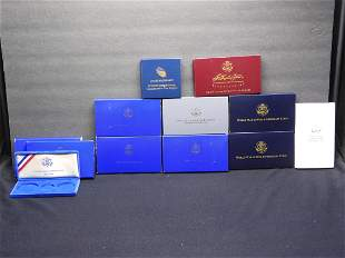10 Modern Commemorative US Mint Coin Boxes With Snap
