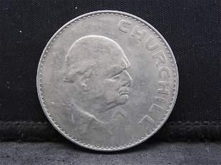 1965 United Kingdom 25 Pence Crown, Winston Churchill