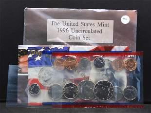 1996 P/D/W US Mint Unc. 11 Coin Set. Contains the