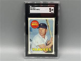 1969 Topps Mickey Mantle #500 SGC 5