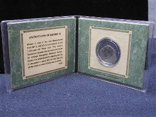 Ancient Coin of Khosru II Silver Coin in a Historic