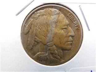 1916 Buffalo Head Indian Nickel - XF/AU Condition