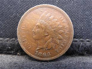 1864 Indian Head Cent - Civil War Date! - Nice Coin