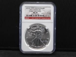2011 NGC MS70 Early Releases - 25th Anniversary