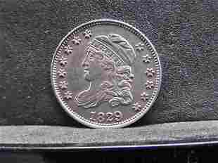 1829 Capped Bust Silver Half Dime - Nice Detail!