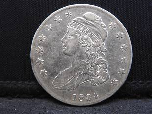 1834 Capped Bust Silver Half Dollar - Great Condition!