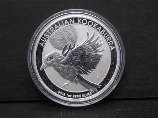 2018 Australian Kookaburra .999 Silver Proof