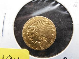 1929 - 2 1/2 Dollar Gold Indian Head Quarter Eagle. BU.
