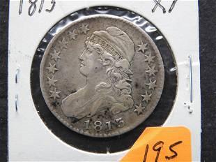 1813 Bust Half Dollar. XF.