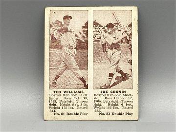 1941 Double Play Ted Williams/Joe Cronin Both HOF
