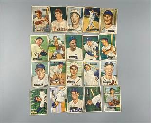 (40) 1951 Bowman Baseball Cards Various Grades