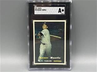 1957 Topps Mickey Mantle #95 SGC Authentic