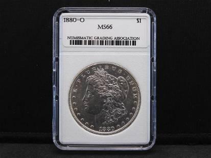1880-O NGA MS66 Morgan Silver Dollar - Nice!