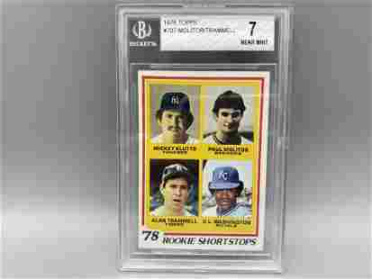 1978 Topps Paul Molitor/Alan Trammell Rookie Shortstops