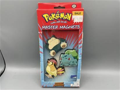 1999 Pokemon Master Magnets - Snorlax, Bulbasaur,