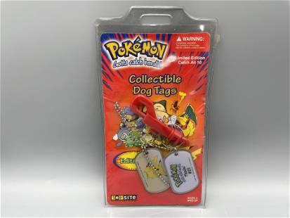 1999 Pokemon Collectible Dog Tags - Pikachu