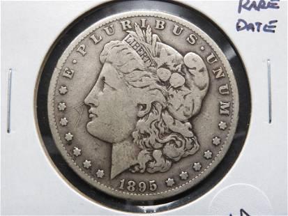 1895-S Morgan $1. Rare Date.
