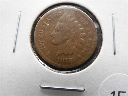 1878 Indian 1c. Good+.