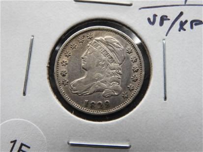 1829 Bust 10c. VF/XF. Nice.