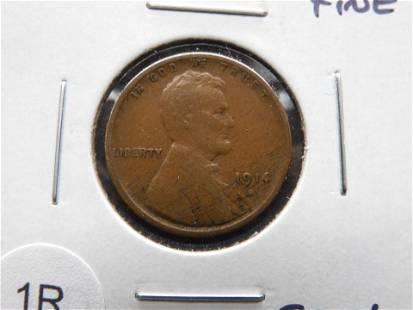 1914-S Lincoln 1c. Fine. Semi-Key.