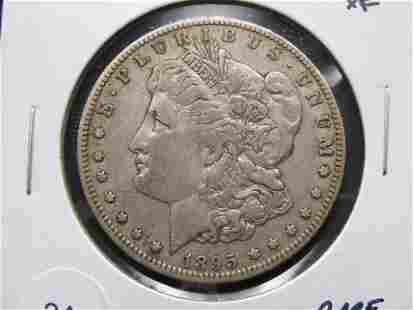 1895-O Morgan $1. XF. Rare Date.