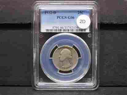 1932-D Washington 25c. PCGS G06.